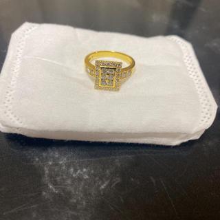 K18 ダイヤモンド リング ダイヤリング 18金 美品(リング(指輪))