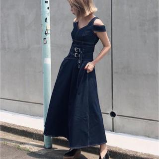Ameri VINTAGE - Ameri WIDE BELT DOCKING DRESS