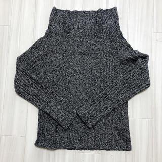 LOWRYSFARM グレー ハイネック ニット セーター(ニット/セーター)
