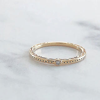 アガット(agete)の美品 agete アガット K10 ダイヤモンドリング(リング(指輪))