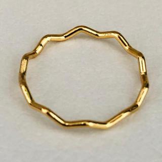 K18 ナミナミデザインのリング(リング(指輪))