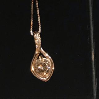 美品 k18PG 0.518カラット ピンクゴールド ダイヤモンドネックレス (ネックレス)