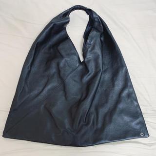 エムエムシックス(MM6)の再再値下げ【美品】MM6  ジャパニーズバッグ ビッグサイズ 黒 本革(トートバッグ)