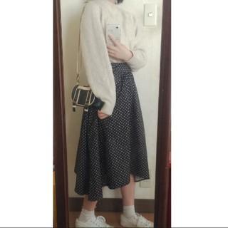 Lochie - ドット 水玉  ひらひら スカート