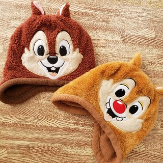 Disney - チップとデール⭐可愛い!暖かい!帽子 二点