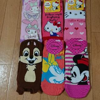 Disney - キャラクター スニーカーソックス 6足組