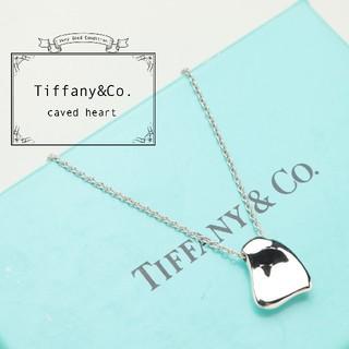 Tiffany & Co. - 新品仕上げ 美品 TIFFANY ティファニー カーブド ハート ネックレス
