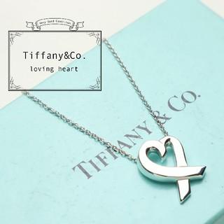 Tiffany & Co. - 新品仕上げ 美品 TIFFANY ティファニー ラヴィング ハート ネックレス