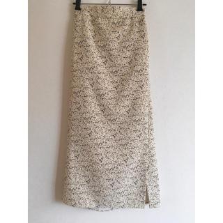 GU - フラワープリント ナロースカート