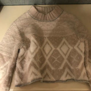 ファーファー(fur fur)の美品 furfur 雪柄セーター(ニット/セーター)