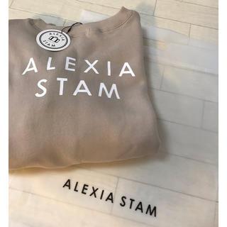 ALEXIA STAM - アリシアスタン バックロゴトレーナー ベージュ 新品