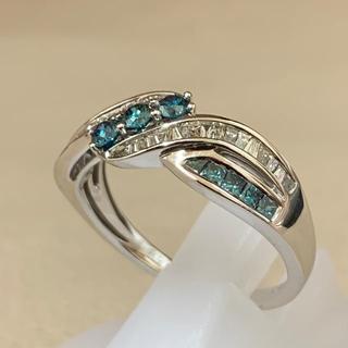 K18WG トリートブルーダイヤモンド リング(リング(指輪))