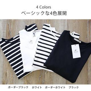 新品★黒 ロングTシャツ★(Tシャツ(長袖/七分))