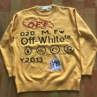 OFF-WHITE - Off-White★ イエローニットセーター