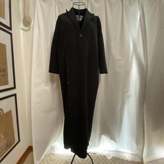 エイソス(asos)のasos ブラック襟付きロングワンピース(ロングワンピース/マキシワンピース)