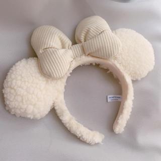 Disney - TDR ♡ ミニー ホワイトボアカチューシャ