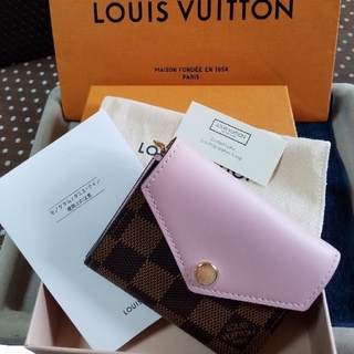 LOUIS VUITTON - 2019購入★ルイヴィトン★ミニ財布 ダミエ ピンク★付属品完全★