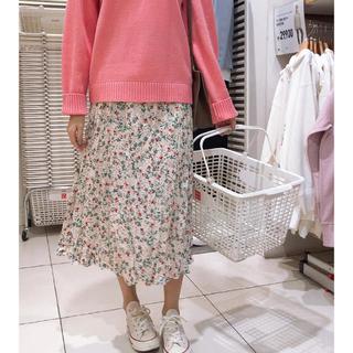 ディーホリック(dholic)の未使用 花柄スカート(ロングスカート)