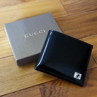 グッチ(Gucci)の【未使用に近い】GUCCI グッチ 折り財布 札入れ レザー 革 エナメル(折り財布)