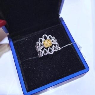 素敵なファンシーライトイエローダイヤモンドリング(リング(指輪))