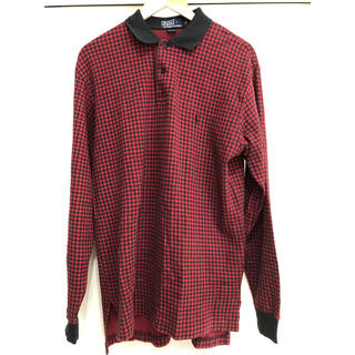 POLO RALPH LAUREN - polo ralph lauren ポロ ラルフローレン ポロシャツ 長袖 赤
