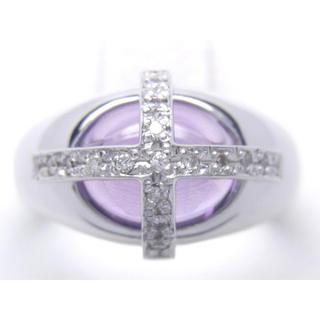 K18 天然 アメジスト ダイヤ リング(リング(指輪))