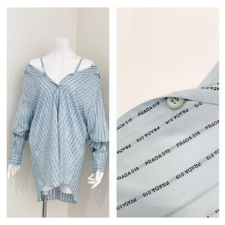 PRADA - PRADA ロゴプリント シルクシャツ