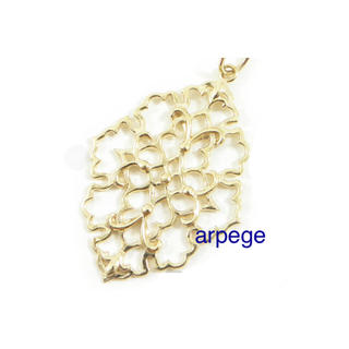 agete - agete K10 ジャスミン チャーム * ネックレス トップ nojess