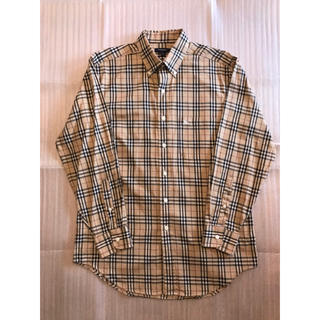 BURBERRY - BURBERRY LONDON ベージュチェックシャツ
