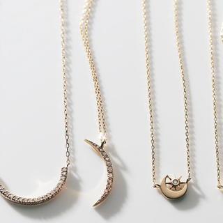 "Enasoluna - エナソルーナI'm yours necklace""Luna"" 月ダイヤネックレス"