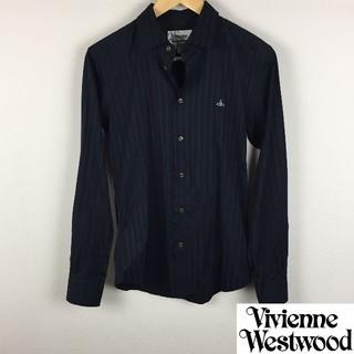 Vivienne Westwood - 美品 ヴィヴィアンウエストウッドマン 長袖シャツ ネイビー サイズ44
