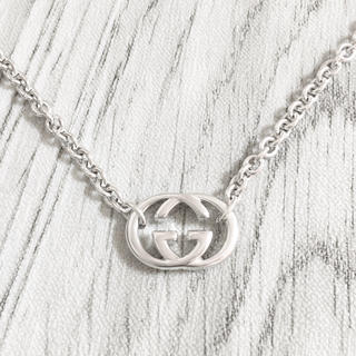Gucci - 正規品 グッチ ネックレス シルバー SV925 GG インターロッキング 銀
