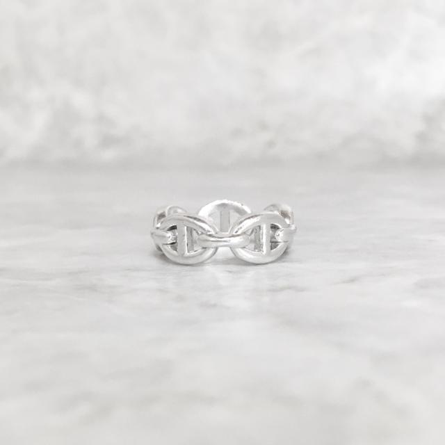 Hermes(エルメス)の正規品 エルメス 指輪 シェーヌダンクル シルバー SV925 H ロゴ リング レディースのアクセサリー(リング(指輪))の商品写真