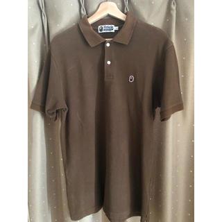 A BATHING APE - APE エイプ ポロシャツ 茶色 Lサイズ