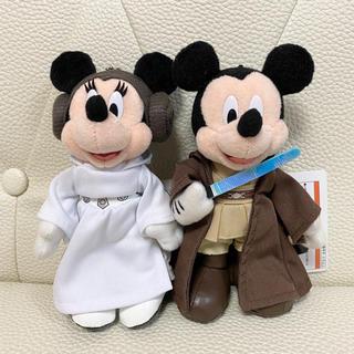 Disney - ディズニーランド スターウォーズ ミッキー ミニー ぬいぐるみバッジ