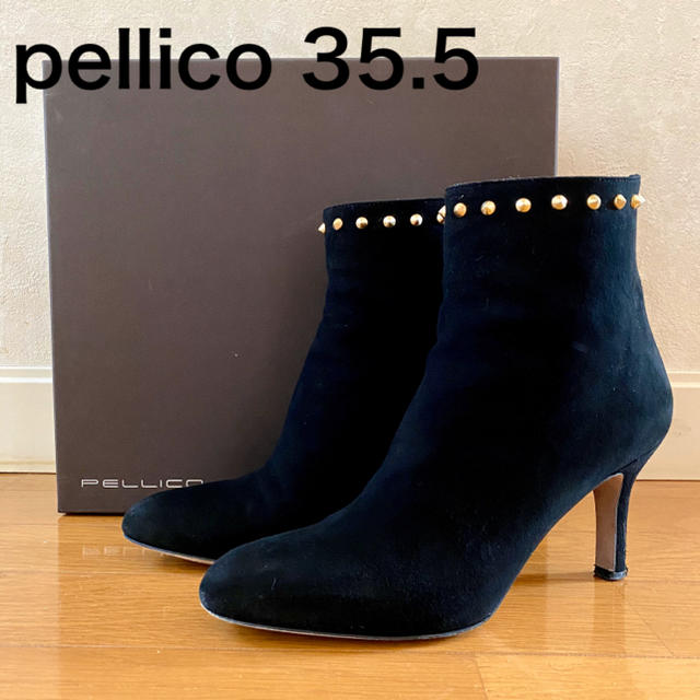PELLICO(ペリーコ)の最終価格☆PELLECO スタッズショートブーツ35.5 レディースの靴/シューズ(ブーツ)の商品写真