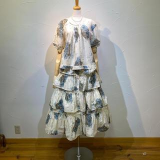 KANEKO ISAO - ワンダフルワールド ブラウス&スカートセット定価8万2500円