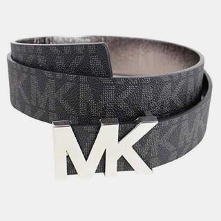 Michael Kors - プレゼント 新品 ブランド マイケルコース MK ロゴ ベルトブラック黒 レザー