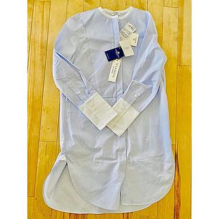 IENA - イエナスタンドカラーブルーシャツ38未使用タグ付き美品