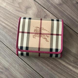 BURBERRY - Burberry 三つ折り財布 ピンク