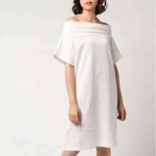 ニーナミュウ(Nina mew)のnina mew オフショルスウェットドレス(ミニワンピース)