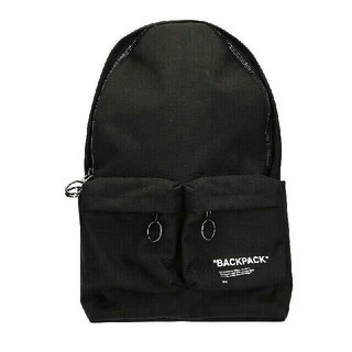 OFF-WHITE - OFF-WHITE QUOTE BACKPACK パック ブラック