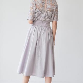ラグナムーン(LagunaMoon)のラグナムーン レース切替しドレス ワンピース(ミディアムドレス)