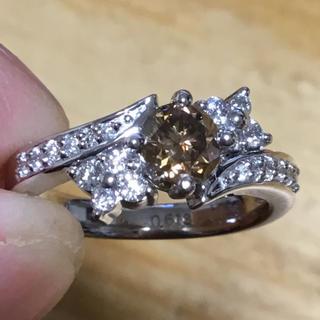 美麗❗️一粒石✨ブラウンダイヤモンド✨リング✨約10.5号✨指輪✨プラチナ (リング(指輪))