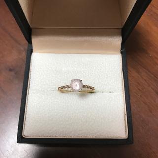 お買い得です!!クロチェ ピンクのモルガナイトリング 10k 10号(リング(指輪))