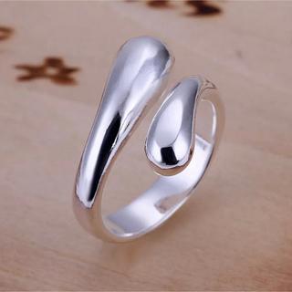トゥデイフル(TODAYFUL)のタイムセール!シルバーリング ワイドカーブフォルムクロス 指輪 新品(リング(指輪))
