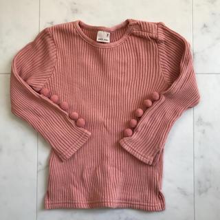 petit main - ポンポン袖カットソー プティマイン 90サイズ