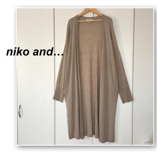 niko and... - ニコアンド✨ベージュのロングカーディガン