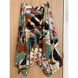 しまむら - しまむら スカーフ柄 ロング ワンピース