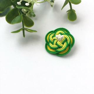 No.21 水引Camellia Flower ラペルピン 金具の変更可能です(ネクタイピン)